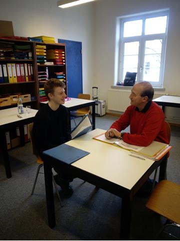 Jobpate Hans Bock bei der Arbeit