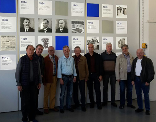 Männerstammtisch bei der Besichtigung der Firma Wafios